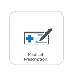 Medical prescription and medical services icon vector