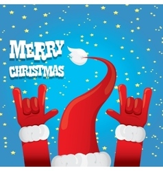 Santa claus hand rock n roll vector
