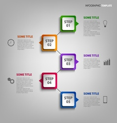 Info graphic with colorful design element vector