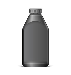 Cool Realistic Black plastic bottle vector image