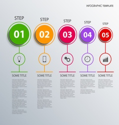 Info graphic with colorful design circles pointers vector