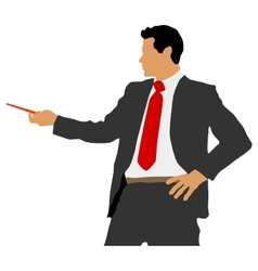Business man with pointer vector