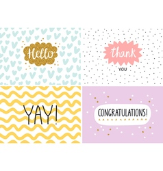 Happy cards set vector image