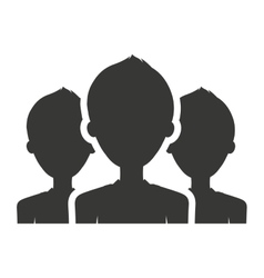 Teamwork silhouette isolated icon design vector