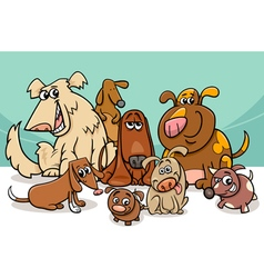 Dogs group cartoon vector
