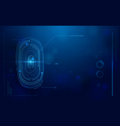 abstract futuristic digital fingerprint scanner vector image vector image