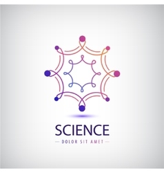 Abstract science logo laboratory vector
