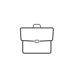 briefcase line icon portfolio outline logo vector image