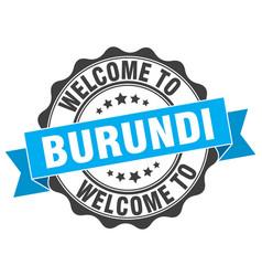 Burundi round ribbon seal vector