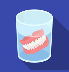 Denturesold age single icon in flat style vector