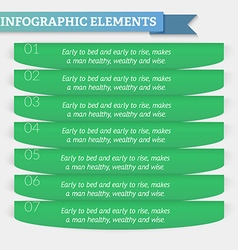 Element of text infographics for diagram graph vector image vector image