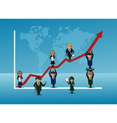 Finance bussines team growth concept graph vector image