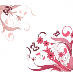 flower pattern corner vector image vector image