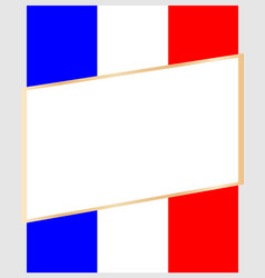 Frame on the background of the flag france vector