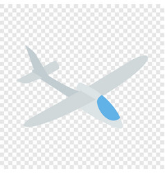grey plane isometric icon vector image vector image