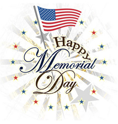 happy memorial day usa vector image