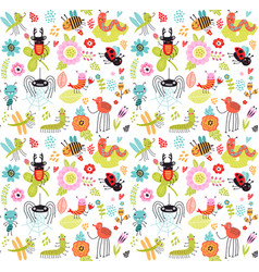 insect pattern vector image