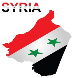 Isometric syrian flag vector