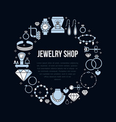 jewelry shop diamond accessories banner vector image
