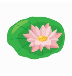 Lotus flower icon cartoon style vector image