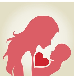 Mum and baby vector image