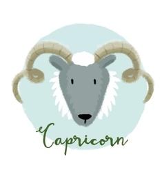 Nice capricorn horoscope sign vector