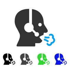 operator speech flat icon vector image vector image