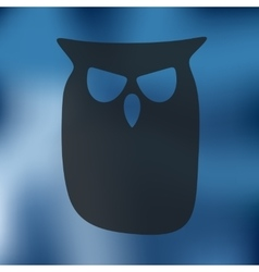 Owl icon on blurred background vector