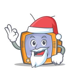 santa tv character cartoon object vector image vector image