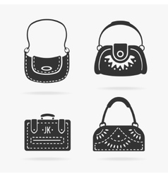 Set female bags vector image