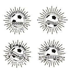 Set of soccer football logo vector