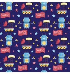 Space Invaders Cartoon Seamless Pattern vector image