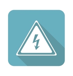 Square high voltage icon vector