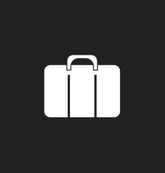 Suitcase icon luggage in flat style vector