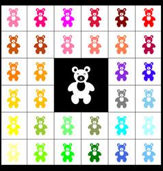 Teddy bear sign felt-pen 33 vector