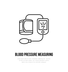 Thin line icon of blood pressure vector