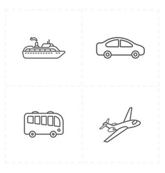 travel company icons vector image vector image