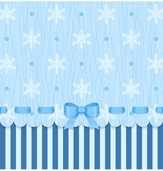 Vintage winter card with bow vector image vector image