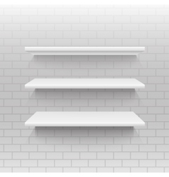 Empty shelf on a wall from blocks eps 10 vector