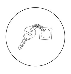 Key icon in outline style isolated on white vector