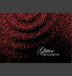 red confetti glitters vector image