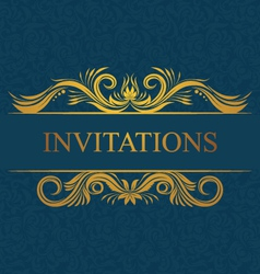 Decorative invitations card vector