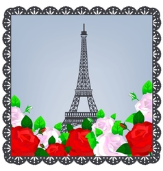 Eiffel tower photo vector image