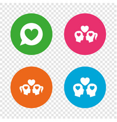 Couple love icon lesbian and gay lovers signs vector