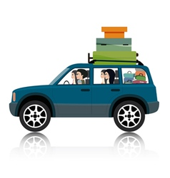 Car suv luggage vector