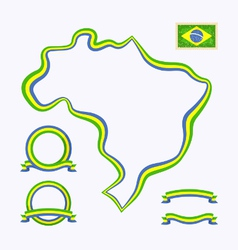 Colors of brazil vector