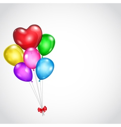 Background with bunch of colored balloons vector