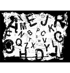 letter grunge background vector image