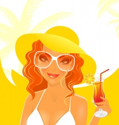 Women dream summer vector