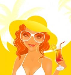 women dream summer vector image